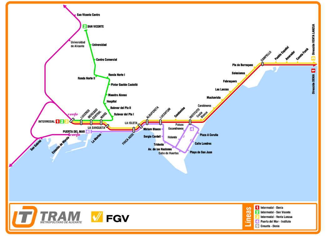 alicante tram website